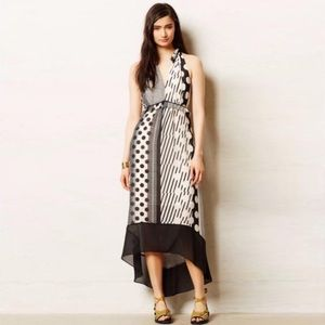 Anthropologie Maeve Channel Dot High Low Dress 6